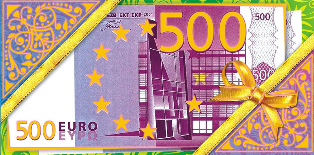 Открытки с деньгами евро, молодому