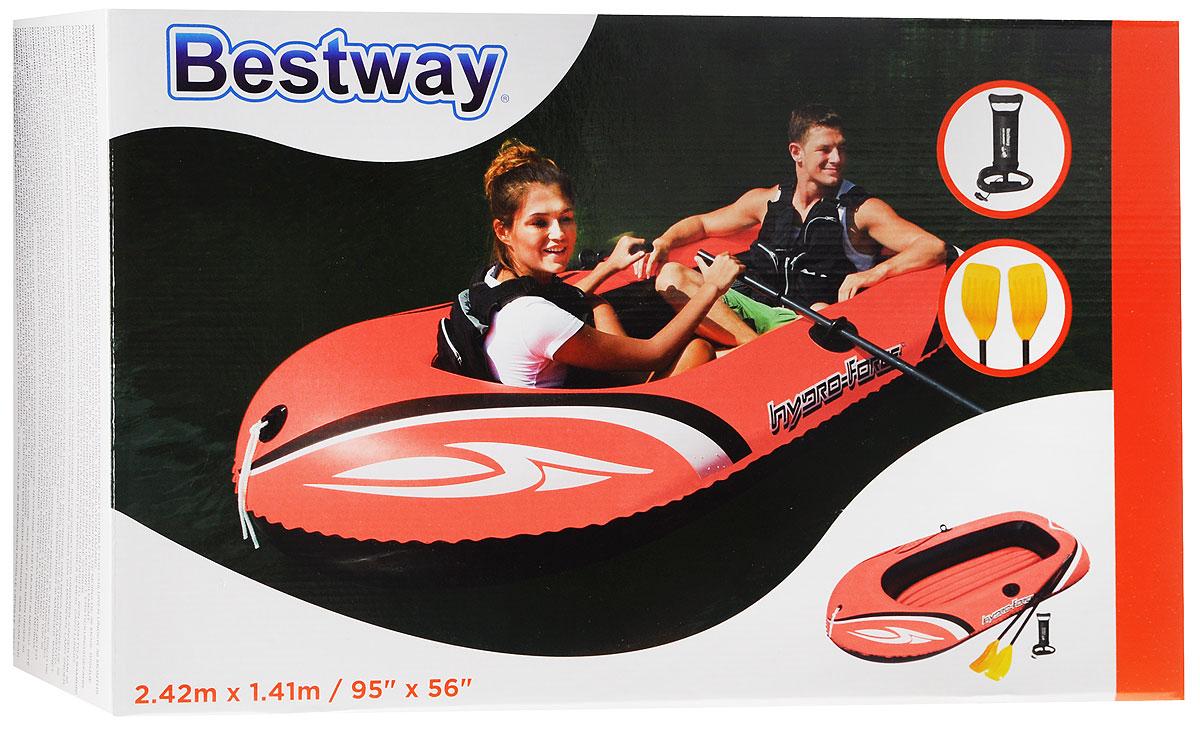 гребная надувная лодка bestway